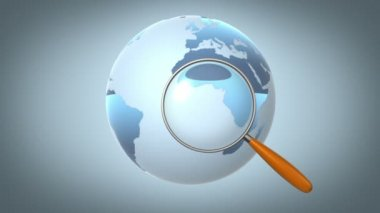 Global searching, seamless loop 3d animation with alpha-matte — Stock Video