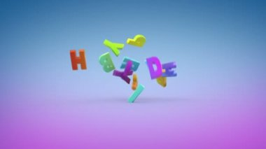 Happy Birthday, 3d animation — Stock Video