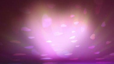 Sfondo romantico, bella animazione 3d, in grado di ciclo — Video Stock