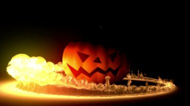 Halloween intro, 3d animation, full HD — Stock Video