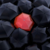The red umbrella — Stock Photo