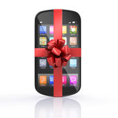 Smartphone gift — Stock Photo