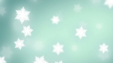 Falling snowflakes background — Stock Video