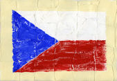 Malované vlajka — Stock fotografie
