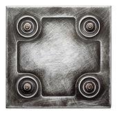 Placa de metal — Foto Stock