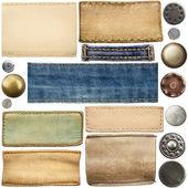 Rótulos de jeans — Foto Stock