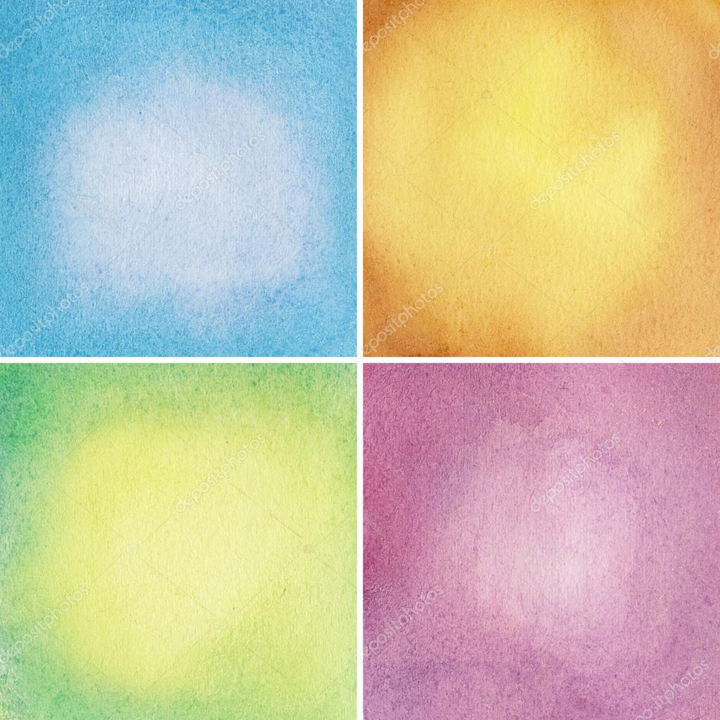 Watercolor backgrounds, textures set — Stock Photo #13044873