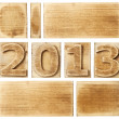 Wooden 2013 — Stock Photo