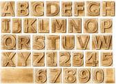 Houten alfabet — Stockfoto