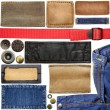 Jeans labels — Stock Photo