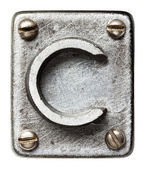 Metal letter — Stock Photo