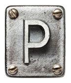 Litery metalowe — Zdjęcie stockowe