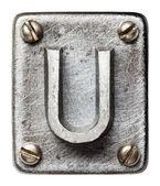 металлические буквы — Стоковое фото