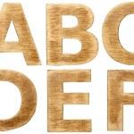 Wooden alphabet — Stock Photo #20999471
