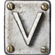 Metal letter - Stockfoto