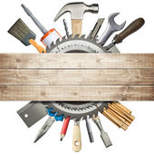 Carpentry, construction collage — Stock Photo