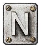 Lettera in metallo — Foto Stock
