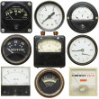 Stock Photo: Old gauges