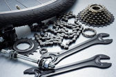 Bike repairing — Stock Photo