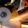 Sawing metal - Foto de Stock
