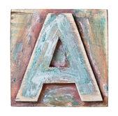 Ahşap alfabe — Stok fotoğraf