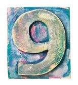 Wooden alphabet — Стоковое фото