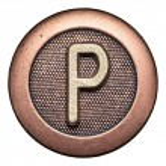Button alphabet — Stock Photo