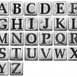 Stock Photo: Metal letters