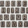 Metal letters — Stock Photo