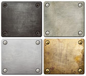 Metal plates — Stock Photo