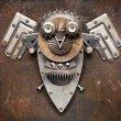 Metal Owl — Stock Photo
