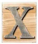 Wooden alphabet — Stock Photo