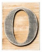 Wooden alphabet — Fotografia Stock