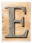 木制字母 — 图库照片