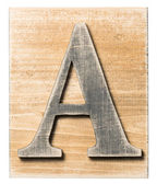 Wooden alphabet — Stock Photo