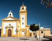 Iglesia amarilla — Foto de Stock