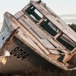 Stock Photo: Rotting fishing boat