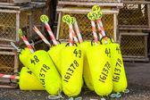Yellow buoys — Stock Photo