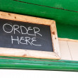 Order Here Sign — Stock Photo