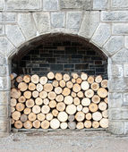 Pila di legno — Foto Stock
