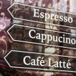 Stock Photo: Espresso Sign