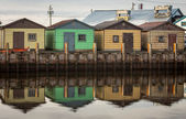 Fishing Shacks — Stock Photo