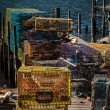 Lobster Traps Maine — Stock Photo