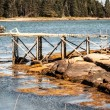 Wharf in Maine — Stock Photo