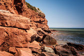 Red cliff — Stock Photo