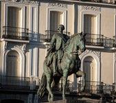 Statua konia i jeźdźca — Zdjęcie stockowe