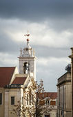 Church tower and bells — Stock Photo