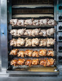 Rotisserie chicken — Stock Photo
