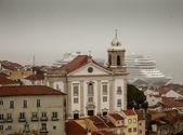 リスボンでの雨の日 — ストック写真