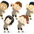 Kids exercising 2 — Stock Vector